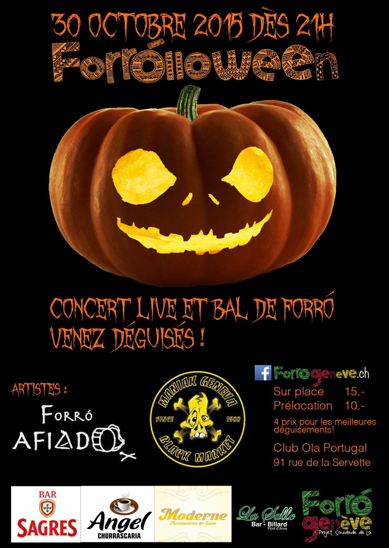 forrolloween flyer facebook